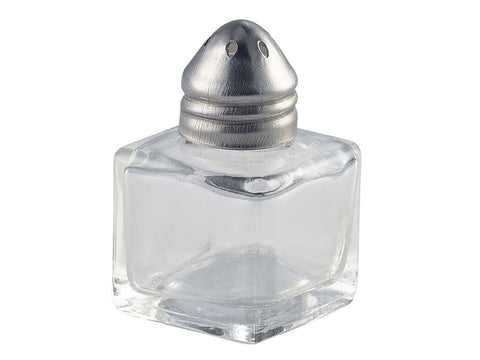 Genware 008-6 Individual Glass Pepper Pot 30 x 30 x 50mm, Table Service, Advantage Catering Equipment