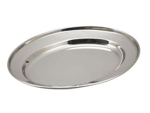 "Genware 1065 S/St Oval Flat 9"", Table Service, Advantage Catering Equipment"