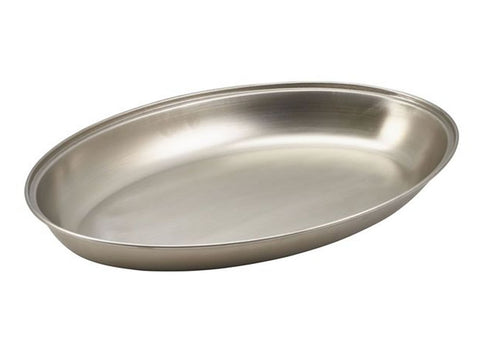 "Genware 1261 S/St. Oval Veg Dish 9""  (11261), Table Service, Advantage Catering Equipment"