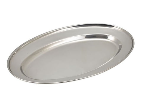 "Genware 1464 S/St.Oval Flat 14""(11464) **, Table Service, Advantage Catering Equipment"