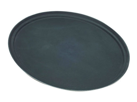 "Genware 3100GR-004 Tray Gengrip Fibreglass Oval 31"" Black, Trays, Advantage Catering Equipment"