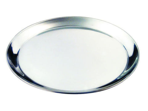 "Genware 52139 S/St. 14"" Round Tray 350mm, Trays, Advantage Catering Equipment"