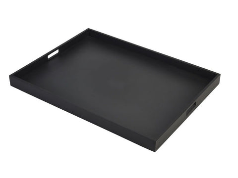 Genware BT6448BK Solid Black Butlers Tray 64 x 48 x 4.5cm, Trays, Advantage Catering Equipment