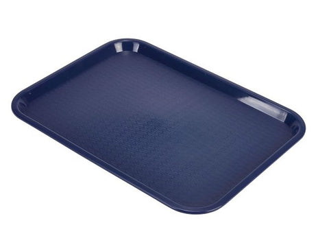 Genware CT1216-14 Fast Food Tray Blue Medium