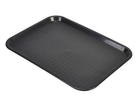 Genware CT1418-03 Fast Food Tray Black Large, Trays, Advantage Catering Equipment
