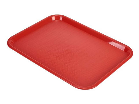 Genware CT1418-05 Fast Food Tray Red Large, Trays, Advantage Catering Equipment