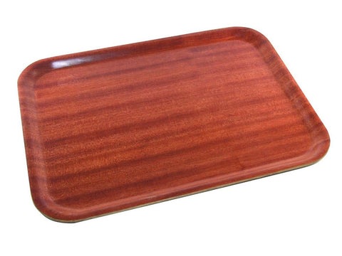 Genware DT4837 Darkwood Mahogany Tray 48 x 37cm, Trays, Advantage Catering Equipment