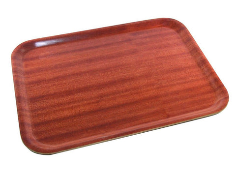 Genware DT3628 Darkwood Mahogany Tray 36 x 28cm, Trays, Advantage Catering Equipment