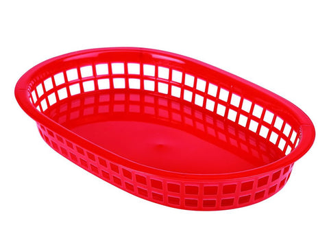 Genware FFB27-R Fast Food Basket Red 27.5 x 17.5cm