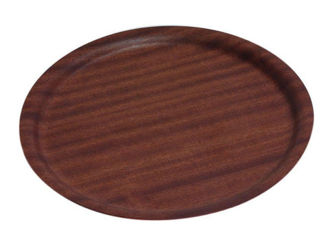Genware NSDT27 Non-Slip Darkwood Round Tray 27cm Dia, Trays, Advantage Catering Equipment