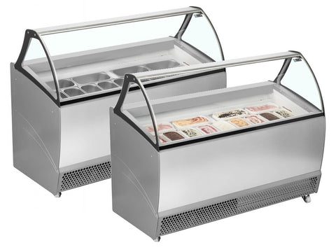 ISA Bermuda Range Ventilated Scoop Ice Cream Display