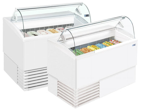 ISA Isetta Range Scoop Ice Cream Display, Ice Cream, Advantage Catering Equipment