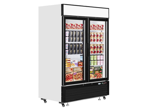 Interlevin LGF5000 Double Glass Door Display Freezer