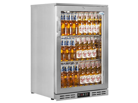Interlevin PD10H SS Stainless Steel Single Door Back Bar Cooler