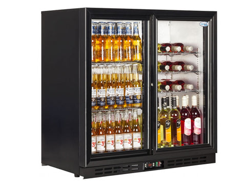 Interlevin PD20S Back Bar Bottle Cooler, Bottle Fridges, Advantage Catering Equipment