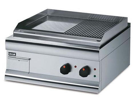 Lincat GS6/TR Electric Steel Plate Half Ribbed Griddle, Griddles, Advantage Catering Equipment