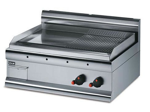 Lincat GS7/R Electric Steel Plate Half Ribbed Griddle