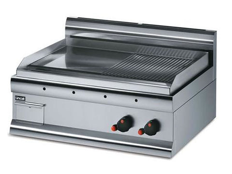 Lincat GS7/R Steel Plate Gas Griddle Half Ribbed, Griddles, Advantage Catering Equipment