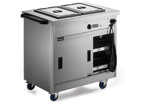 Lincat P6B2 Panther Slim Mobile Hot Cupboard, Hot Holding, Advantage Catering Equipment
