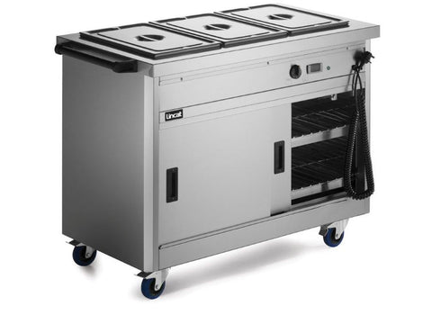 Lincat P6B3 Panther Slim Mobile Hot Cupboard, Hot Holding, Advantage Catering Equipment