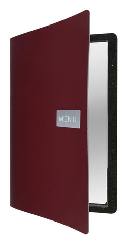 Genware MC-LRA4-RORD Royal Leather Menu A4 Red