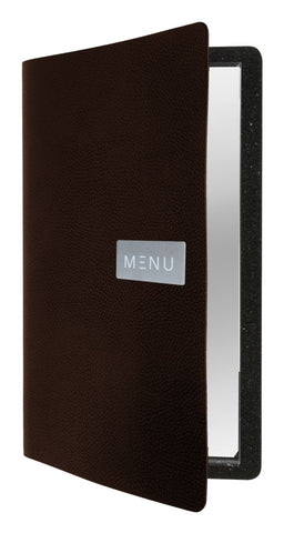 Genware MC-LRA4-RWBR Raw Leather Menu A4 Brown, Menu,Signs & Display, Advantage Catering Equipment