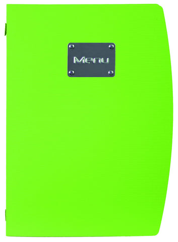 Genware MC-RCA4-GR Rio A4 Menu Holder Green 4 Pages, Menu,Signs & Display, Advantage Catering Equipment