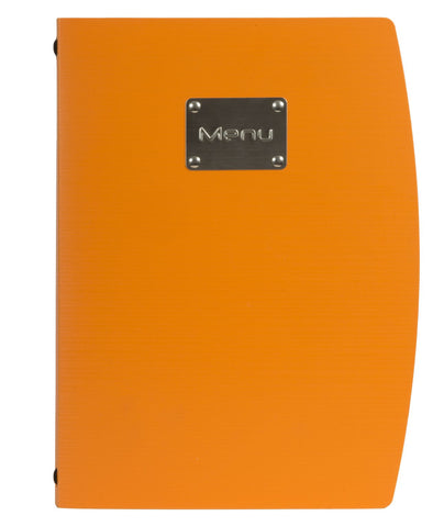 Genware MC-RCA4-OR Rio A4 Menu Holder Orange 4 Pages