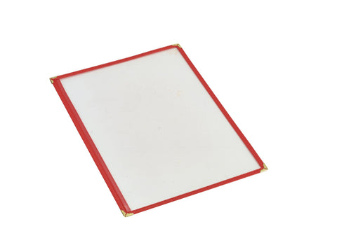 Genware MHAM2R Red American Style A4 Menu Holder - 1 Page, Menu,Signs & Display, Advantage Catering Equipment