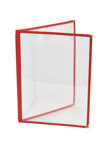 Genware MHAM4R Red American Style A4 Menu Holder - 2 Page, Menu,Signs & Display, Advantage Catering Equipment