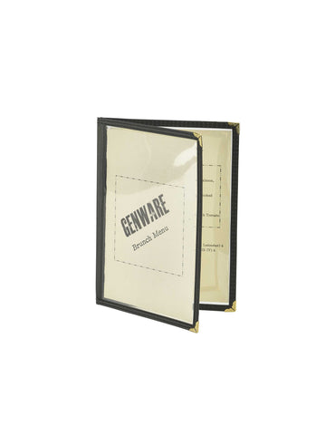 Genware MHAM52 American Style Clear Menu Holder A5- 2 Page, Menu,Signs & Display, Advantage Catering Equipment