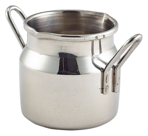 Genware MMC25 Mini Stainless Steel Milk Churn 2.5oz