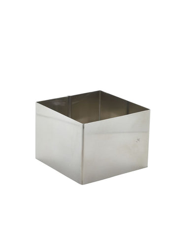 Genware MRSQ86 Stainless Steel Square Mousse Ring 8x6cm, Kitchen & Utensils, Advantage Catering Equipment