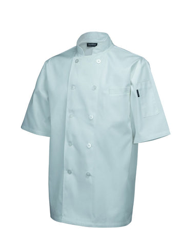 Genware NJ03-XL Standard Jacket (Short Sleeve) White XL Size, Clothing & Footwear, Advantage Catering Equipment