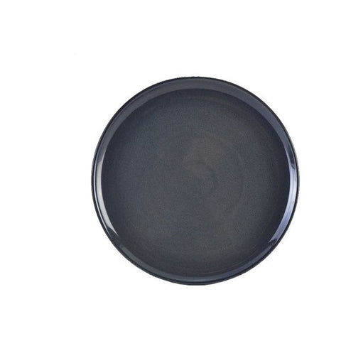 Genware PP-BL33 Terra Stoneware Rustic Blue Pizza Plate 33.5cm, Tableware, Advantage Catering Equipment