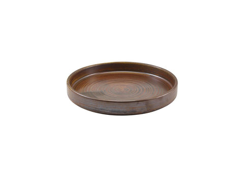 Genware PR-PRC18 Terra Porcelain Rustic Copper Presentation Plate 18cm, Tableware, Advantage Catering Equipment