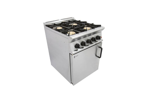 Parry GB4 4 Burner Gas Range Oven, Range Cookers, Advantage Catering Equipment
