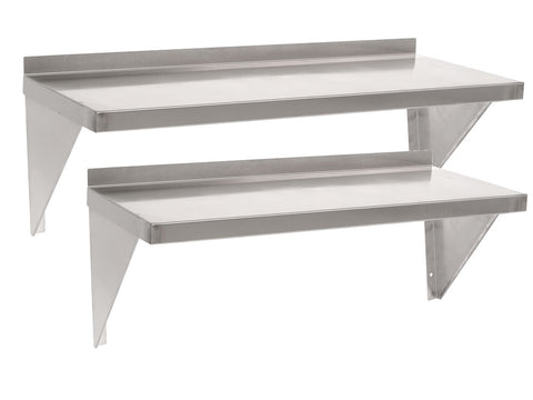 Parry 400mm Deep Range Stainless Steel Single Shelf