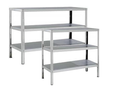 Parry 400mm Deep Stainless Steel 3 Tier Storage Rack, Shelving, Advantage Catering Equipment