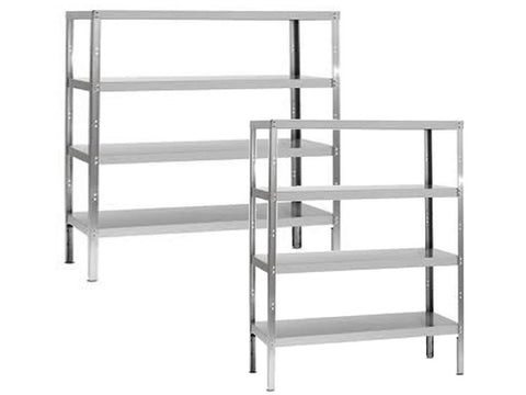 Parry 400mm Deep Stainless Steel 4 Tier Storage Rack, Shelving, Advantage Catering Equipment