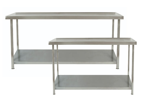 Parry 700mm Deep Stainless Steel Table 1 Undershelf Range