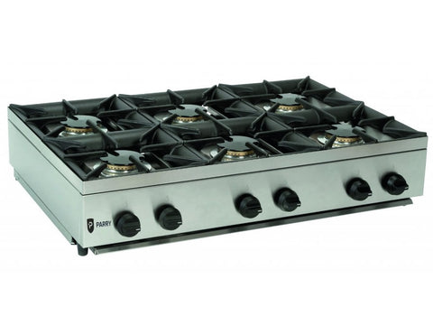 Parry AG6H Gas Hob Unit, Hobs and Boiling Tops, Advantage Catering Equipment