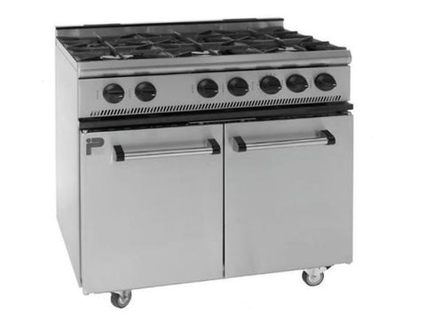 Parry GB6 6 Burner Gas Range Oven, Range Cookers, Advantage Catering Equipment