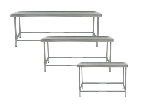 Parry LTAB Range 600mm Deep Stainless Steel Low Table, Fabrications, Advantage Catering Equipment