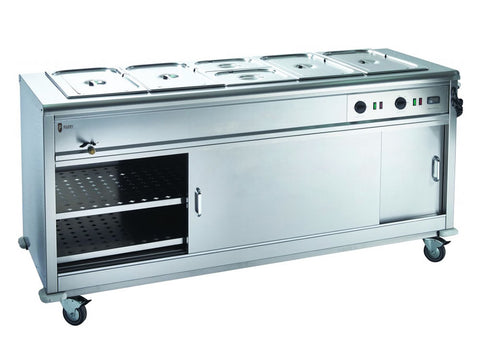 Parry MSB18 Bain Marie Top Mobile Servery, Hot Servery, Advantage Catering Equipment