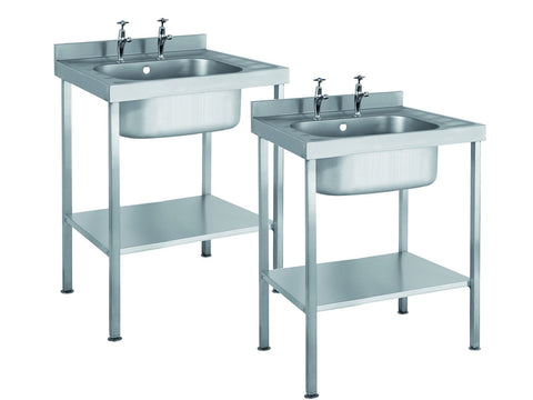 Parry Single Bowl No Drainer Range Stainless Steel Sink Unit, Sinks, Advantage Catering Equipment