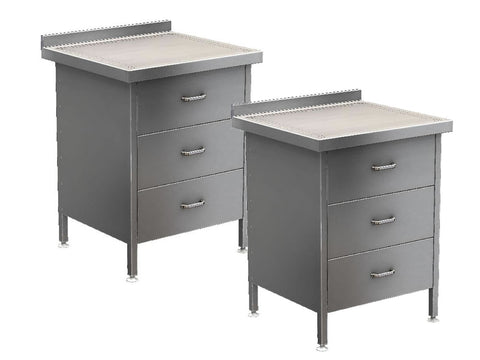 Parry Stainless Steel 3 Drawer Unit Range