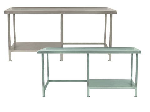 Parry TABH Range 700mm Deep Stainless Steel Table with Half Undershelf