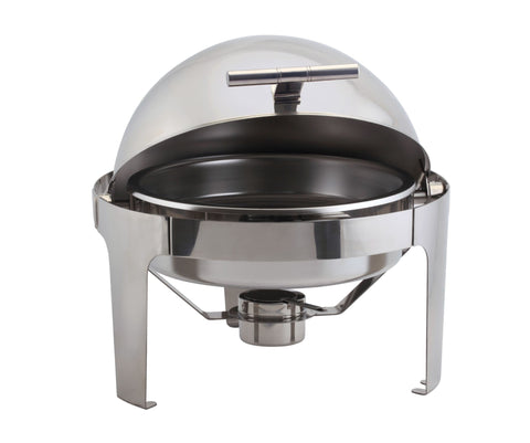 Genware R901 Round Deluxe Roll Top Chafer 6L, Buffet & Display, Advantage Catering Equipment