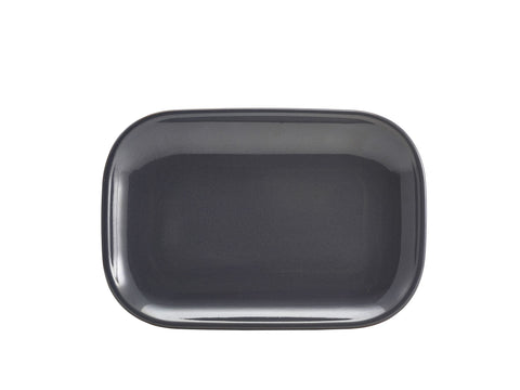 Genware RP-BL29 Terra Stoneware Rustic Blue Rectangular Plate 29 x 19.5cm, Tableware, Advantage Catering Equipment